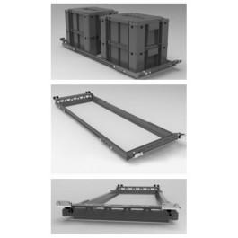 Cadre de fixation pour caisses Ammobox Alu Cab