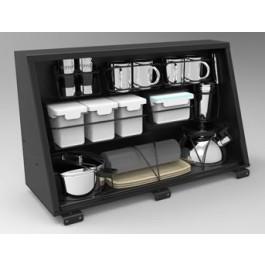 Caisson alu de rangement 750mm Alu Cab avec kit cuisine