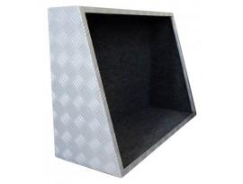 Coffre de rangement noir 1250 mm pour hard-top Alu Cab